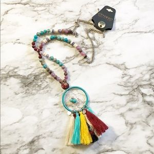 Shyanne Rainbow Dream Catcher Necklace One Size